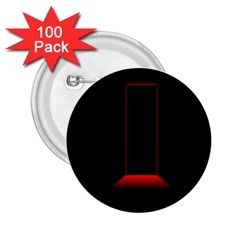 Mistery Door Light Black Red 2.25  Buttons (100 pack)