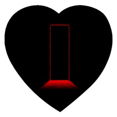 Mistery Door Light Black Red Jigsaw Puzzle (Heart)