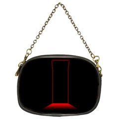 Mistery Door Light Black Red Chain Purses (Two Sides)