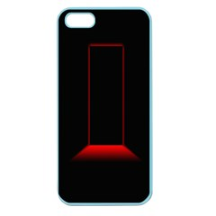 Mistery Door Light Black Red Apple Seamless iPhone 5 Case (Color)