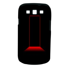 Mistery Door Light Black Red Samsung Galaxy S III Classic Hardshell Case (PC+Silicone)