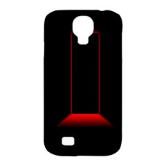 Mistery Door Light Black Red Samsung Galaxy S4 Classic Hardshell Case (pc+silicone)