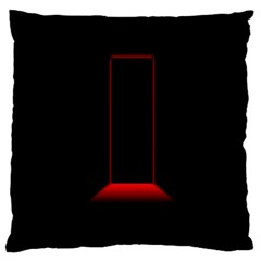 Mistery Door Light Black Red Standard Flano Cushion Case (Two Sides)