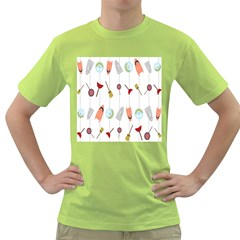 Mask Face Broom Candy Smile Helloween Green T-Shirt