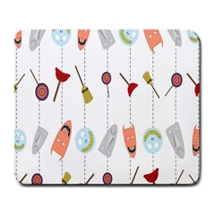 Mask Face Broom Candy Smile Helloween Large Mousepads