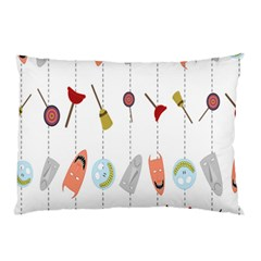 Mask Face Broom Candy Smile Helloween Pillow Case