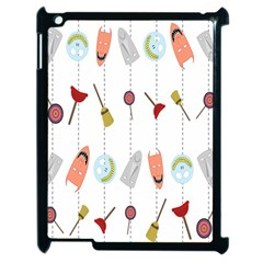 Mask Face Broom Candy Smile Helloween Apple iPad 2 Case (Black)