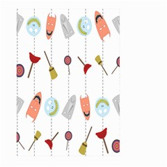 Mask Face Broom Candy Smile Helloween Large Garden Flag (Two Sides)