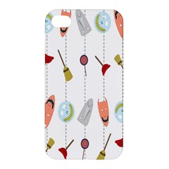 Mask Face Broom Candy Smile Helloween Apple iPhone 4/4S Premium Hardshell Case