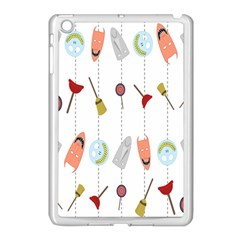 Mask Face Broom Candy Smile Helloween Apple iPad Mini Case (White)