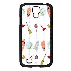 Mask Face Broom Candy Smile Helloween Samsung Galaxy S4 I9500/ I9505 Case (Black)