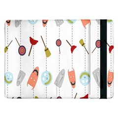 Mask Face Broom Candy Smile Helloween Samsung Galaxy Tab Pro 12.2  Flip Case