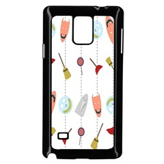Mask Face Broom Candy Smile Helloween Samsung Galaxy Note 4 Case (Black)
