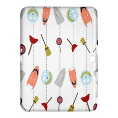 Mask Face Broom Candy Smile Helloween Samsung Galaxy Tab 4 (10.1 ) Hardshell Case