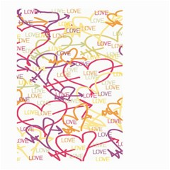 Love Heart Valentine Rainbow Color Purple Pink Yellow Green Small Garden Flag (Two Sides)