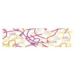 Love Heart Valentine Rainbow Color Purple Pink Yellow Green Satin Scarf (Oblong)