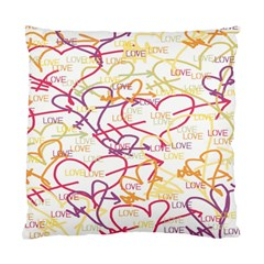Love Heart Valentine Rainbow Color Purple Pink Yellow Green Standard Cushion Case (Two Sides)