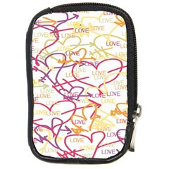 Love Heart Valentine Rainbow Color Purple Pink Yellow Green Compact Camera Cases