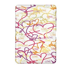 Love Heart Valentine Rainbow Color Purple Pink Yellow Green Samsung Galaxy Tab 2 (10.1 ) P5100 Hardshell Case