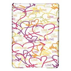 Love Heart Valentine Rainbow Color Purple Pink Yellow Green iPad Air Hardshell Cases