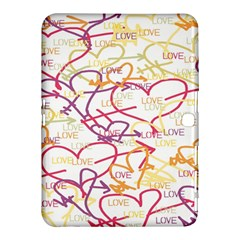 Love Heart Valentine Rainbow Color Purple Pink Yellow Green Samsung Galaxy Tab 4 (10.1 ) Hardshell Case