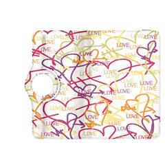 Love Heart Valentine Rainbow Color Purple Pink Yellow Green Kindle Fire HDX 8.9  Flip 360 Case