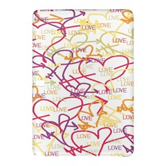 Love Heart Valentine Rainbow Color Purple Pink Yellow Green Samsung Galaxy Tab Pro 12.2 Hardshell Case