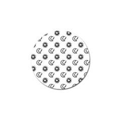 Month Moon Sun Star Golf Ball Marker (10 pack)