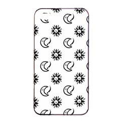 Month Moon Sun Star Apple iPhone 4/4s Seamless Case (Black)