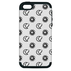 Month Moon Sun Star Apple iPhone 5 Hardshell Case (PC+Silicone)