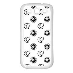Month Moon Sun Star Samsung Galaxy S3 Back Case (White)