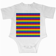 Love Valentine Rainbow Red Purple Blue Green Yellow Orange Infant Creepers