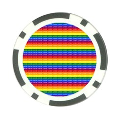 Love Valentine Rainbow Red Purple Blue Green Yellow Orange Poker Chip Card Guard (10 pack)