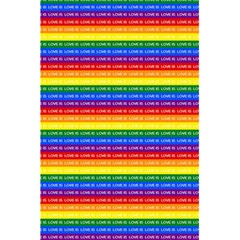 Love Valentine Rainbow Red Purple Blue Green Yellow Orange 5.5  x 8.5  Notebooks