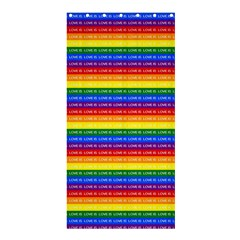 Love Valentine Rainbow Red Purple Blue Green Yellow Orange Shower Curtain 36  x 72  (Stall)