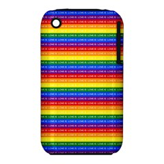 Love Valentine Rainbow Red Purple Blue Green Yellow Orange iPhone 3S/3GS