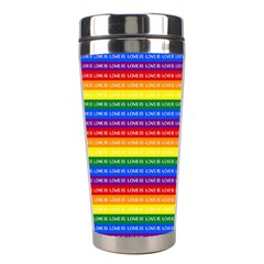 Love Valentine Rainbow Red Purple Blue Green Yellow Orange Stainless Steel Travel Tumblers