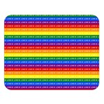 Love Valentine Rainbow Red Purple Blue Green Yellow Orange Double Sided Flano Blanket (Large)  80 x60 Blanket Front