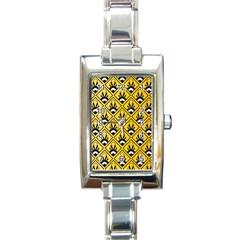 Original Honey Bee Yellow Triangle Rectangle Italian Charm Watch