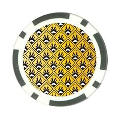 Original Honey Bee Yellow Triangle Poker Chip Card Guard