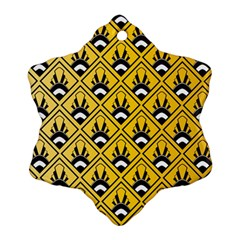 Original Honey Bee Yellow Triangle Snowflake Ornament (Two Sides)