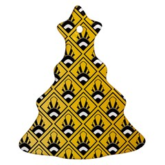 Original Honey Bee Yellow Triangle Christmas Tree Ornament (Two Sides)