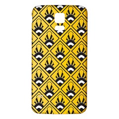 Original Honey Bee Yellow Triangle Samsung Galaxy S5 Back Case (White)