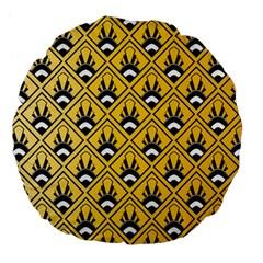 Original Honey Bee Yellow Triangle Large 18  Premium Flano Round Cushions