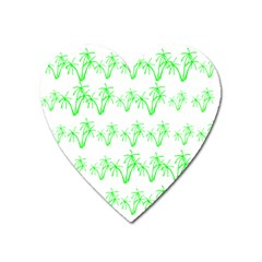 Palm Tree Coconute Green Sea Heart Magnet