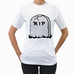 Rip Women s T Shirt (white) (two Sided)