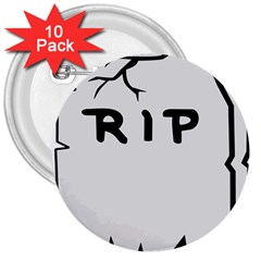 Rip 3  Buttons (10 pack)