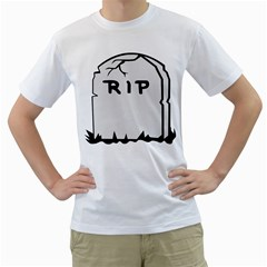 Rip Men s T-Shirt (White) (Two Sided)