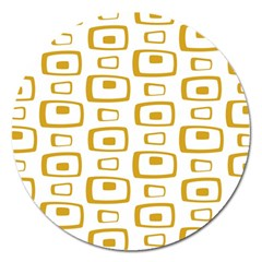 Plaid Gold Magnet 5  (Round)