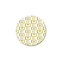 Plaid Gold Golf Ball Marker (10 pack)